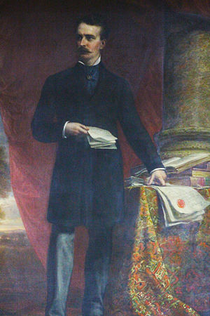 James Prendergast Library - A painting of James Prendergast (d. 1891) which hangs inside the James Prendergast Library in Jamestown, NY.