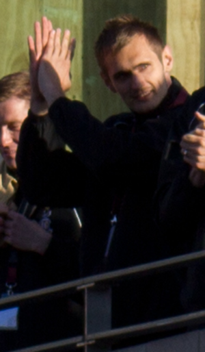 James Hanson (footballer, born 1987) - Hanson with the victory parade that followed Bradford City's victory in the 2013 Football League Two play-off Final