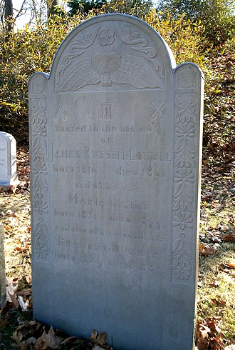 James Russell Lowell - Grave of James Russell Lowell at Mount Auburn Cemetery in Cambridge, Massachusetts