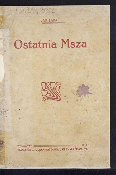 File:Jan Łada - Ostatnia msza.djvu