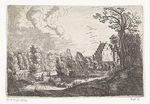 Jan Baptist Bonnecroy - Landscape with a castle