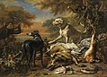 Jan Weenix - Jagdbeutestillleben mit Wolf - 778 - Bavarian State Painting Collections.jpg