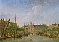 Jan ten Compe - De Bierkade en het Groenewegje gezien naar het Spui.jpg