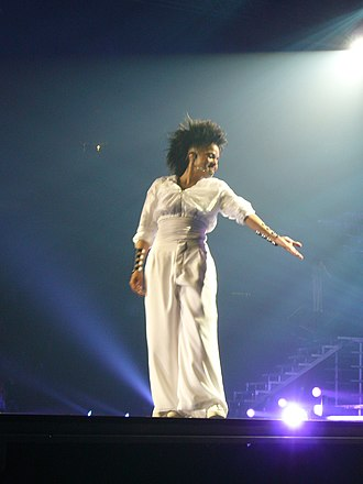 Discipline (Janet Jackson album) - Jackson performing during the Rock Witchu Tour.