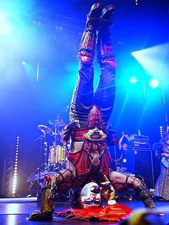 "Seikima-II - Demon Kakka performing the song ""Dead Symphony""."