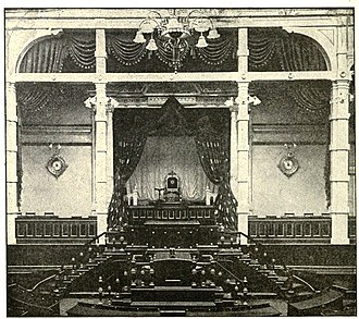 House of Peers (Japan) - The Emperor's Throne in the Japanese House of Peers, Tokyo 1915