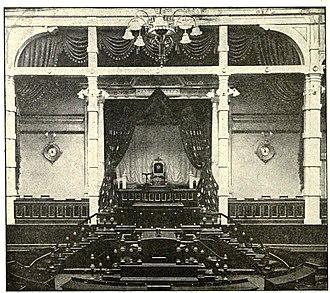 House of Peers (Japan) - The Emperor's Throne in the Japanese House of Peers, Tokyo 1915