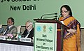 "Jayanthi Natarajan addressing at the Ministerial Dialogue on ""Green Economy and Inclusive Growth"", hosted by Ministry of Environment and Forests and the United Nations Conference on Sustainable Development, in New Delhi.jpg"