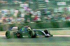 Jean-Marc Gounon - Simtek S941 at the 1994 British Grand Prix (31729354513).jpg