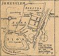 Jean Baptiste Bourguignon d'Anville. La Palestine. 1767.Jerusalem.jpg