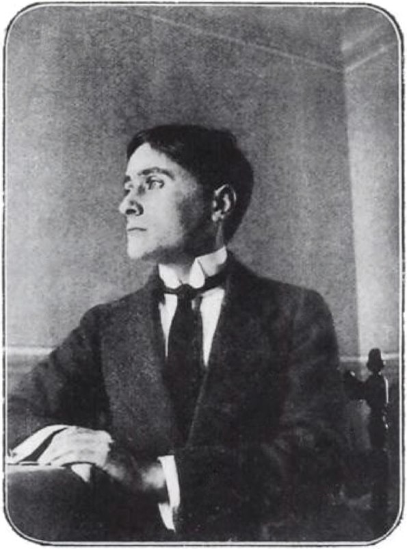Jean Metzinger, photo published in 1913