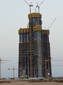Jeddah Tower Building Progress as of 13-Jul-2016 002.jpg