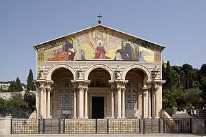 Jerusalem in Christianity - The Church of All Nations near the Mount of Olives.