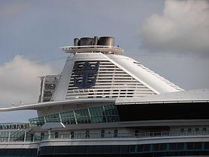 Jewel of the Seas' Funnel Port of Tallinn 19 May 2012.JPG