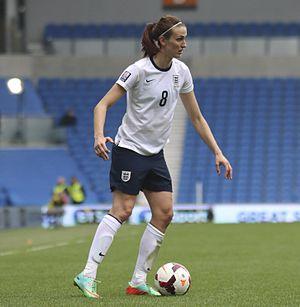 Jill Scott (footballer) - Scott playing for England in 2014