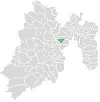 Location o the municipality in Mexico State
