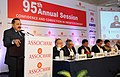 Jitendra Singh delivering the special address at the ASSOCHAM's 95th Annual Session, in New Delhi. The Minister of State (Independent Charge) for Power, Coal and New and Renewable Energy, Shri Piyush Goyal is also seen.jpg