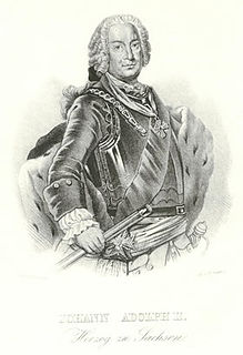 Johann Adolf II, Duke of Saxe-Weissenfels Duke of Saxe-Weissenfels