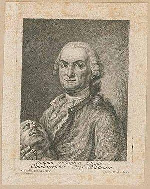 Johann Baptist Straub - The Sculpteur Johann Baptist Straub, engraving by Franz Xaver Jungwirth, 1779