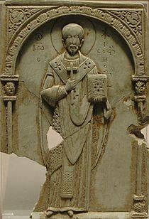 Jean Chrysostome, panneau byzantin du XIe siècle, musée du Louvre