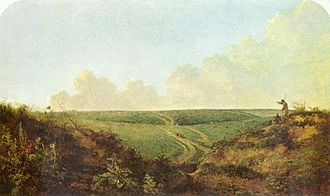 Kett's Rebellion - An early 19th-century painting of Mousehold Heath by local artist John Crome