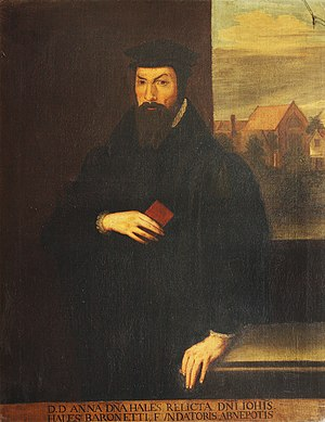 John Hales - Painting of Hale by an unknown artist.