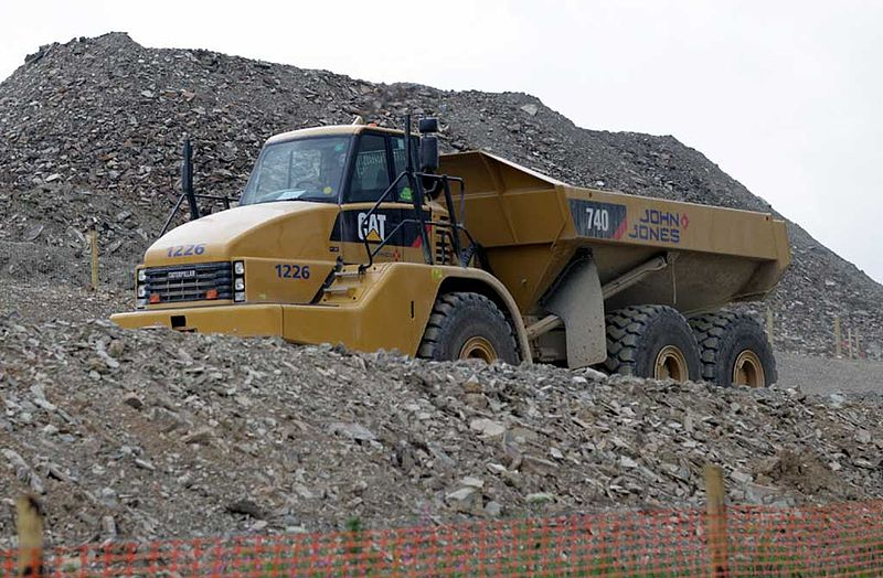 File:John Jones Caterpillar 740 dump truck, 5 January 2009.jpg