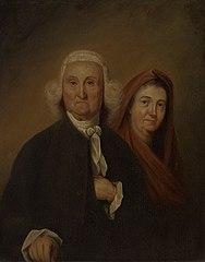 Governor Jonathan Trumbull, Sr. (1710-1785), LL.D. 1779 and Mrs. Trumbull (Faith Robinson)(1718-1780)