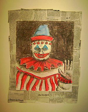 Drawing of a clown by serial killer John Wayne...
