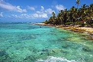 Clima tropical en el Archipiélago de San Andrés, Providencia y Santa Catalina en el mar Caribe.