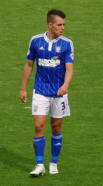 Jonas Knudsen - Jonas Knudsen playing for Ipswich Town