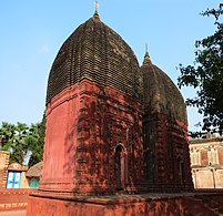 Jora Terracotta Deul temple at Moukhira Kalikapur in Purba Bardhaman district 2.jpg