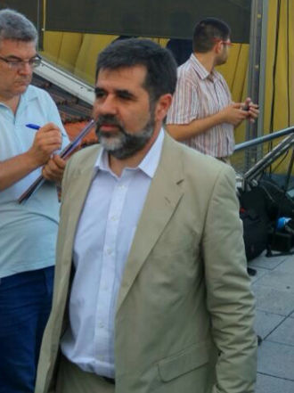 Jordi Sànchez i Picanyol - Jordi Sànchez attending to the presentation of the pro-independence political party Junts pel Sí in 2015.