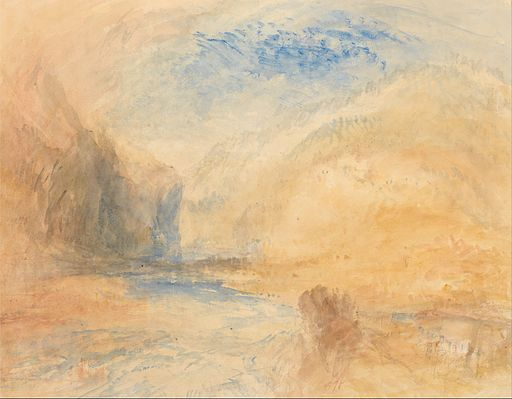Joseph Mallord William Turner - Mountain Landscape with Lake - Google Art Project