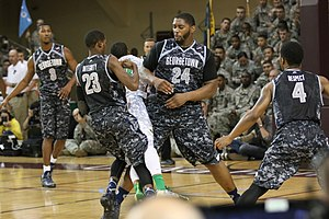 2013–14 Georgetown Hoyas men's basketball team - The Hoyas began the season with the 2013 Armed Forces Classic at Camp Humphrey's in South Korea.