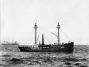 Lightship Ambrose - The Sandy Hook (LV 51) in the late 1890s