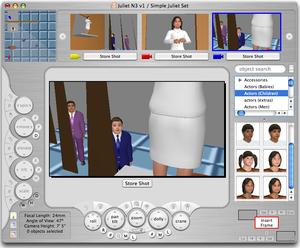 FrameForge 3D Studio - Image: Juliet without Romeo FF3D