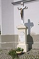 Kříž před kostelem sv. Cyrila a Metoděje, Březová, okres Uherské Hradiště.jpg