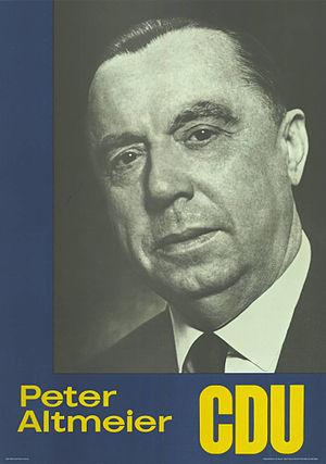 """Peter Altmeier - Peter Altmeier (""""Wahlplakat"""", 1963)."""