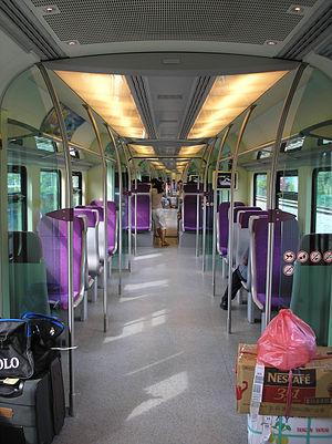 KLIA Transit - Image: KLIA Transit (train interior)