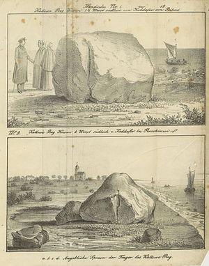 """Kalevipoeg - Kalevide's """"Stones"""" at Lake Peipus"""