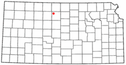 Location of Kill Creek, Kansas