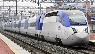 Korean reunification - The KTX-II high-speed train in South Korea.