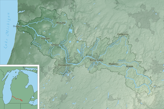 Kalamazoo River - Map of the Kalamazoo River watershed