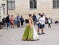 Kalmar Castle, internal courtyard with animator, 2017-07-30.jpg