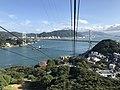 Kammonkyo Bridge from Hinoyama Ropeway 3.jpg