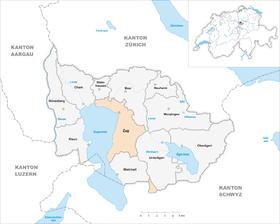 Karte Gemeinde Zug 2007