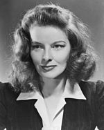 Black-and-white photo of Katharine Hepburn circa 1941.