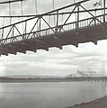 Kawabata Bridge with passing train at Shinten River.jpg