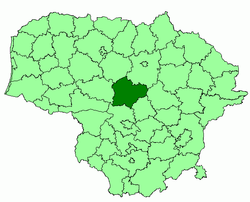 Location of Kėdainiai district municipality within Lithuania